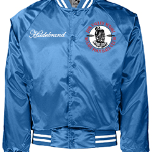 FVRFC Blue Satin Baseball Men's Jackets