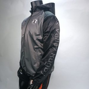 Grey and Black Fox Valley Rugby Wind & Water Resistant Jacket with Hood